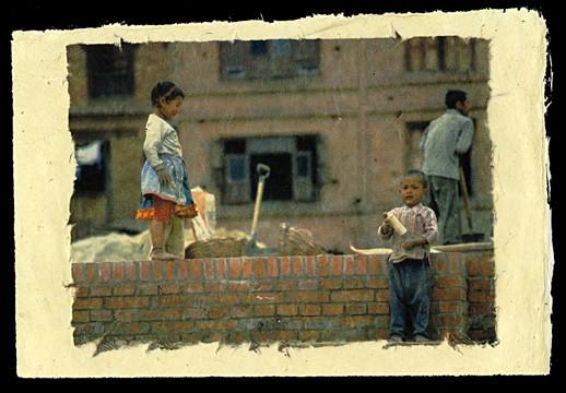 Newar Siblings, Bhaktapur, Nepal, 2001.