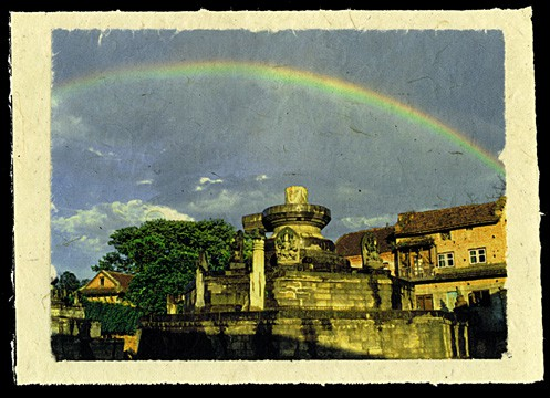 Rainbow near Chuping Ghat, Bhaktapur, Nepal, 1997.