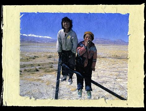 Tibetan Boys, Tingri, Tibet, 2001.