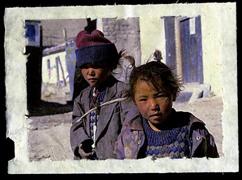 Tibetan Sisters, Tingri, Tibet, 2001.