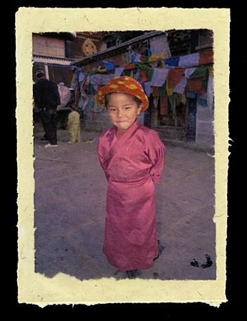 Young Pilgrim at the Jokhang, Lhasa, Tibet, 2000.