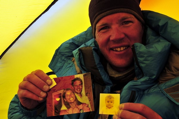 Jake Norton at he South Col on Mount Everest, 26,000 feet.