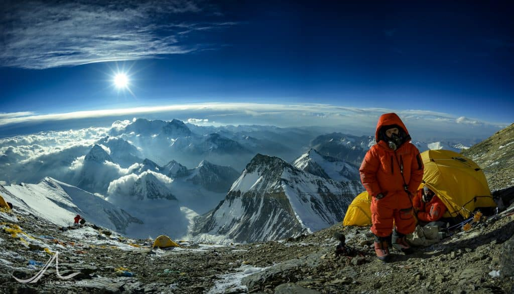 John Griber and Sid Pattison at Camp VI on Mount Everest, Tibet.