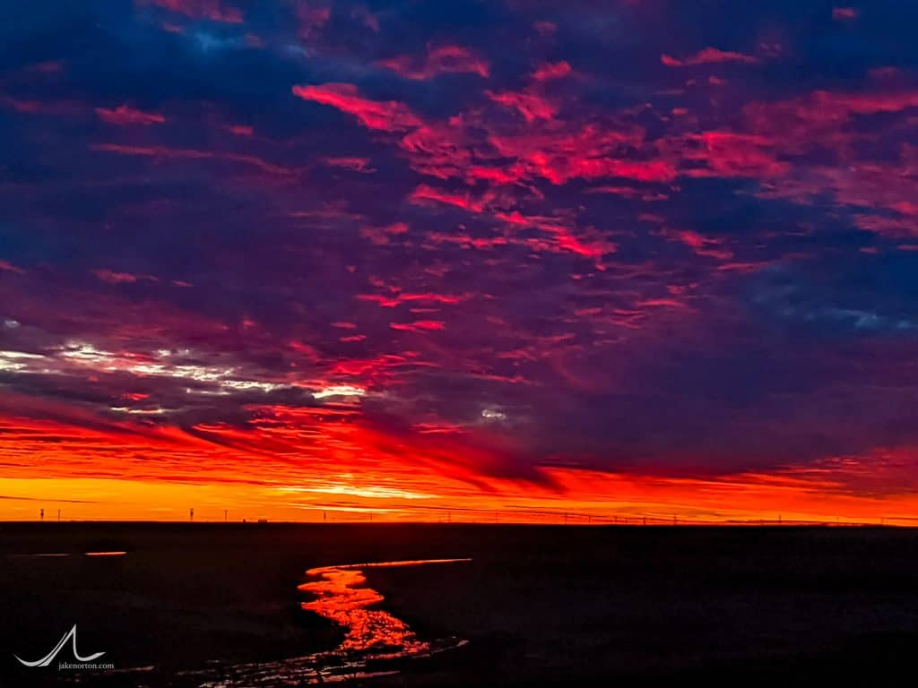 Sunset over West Texas.