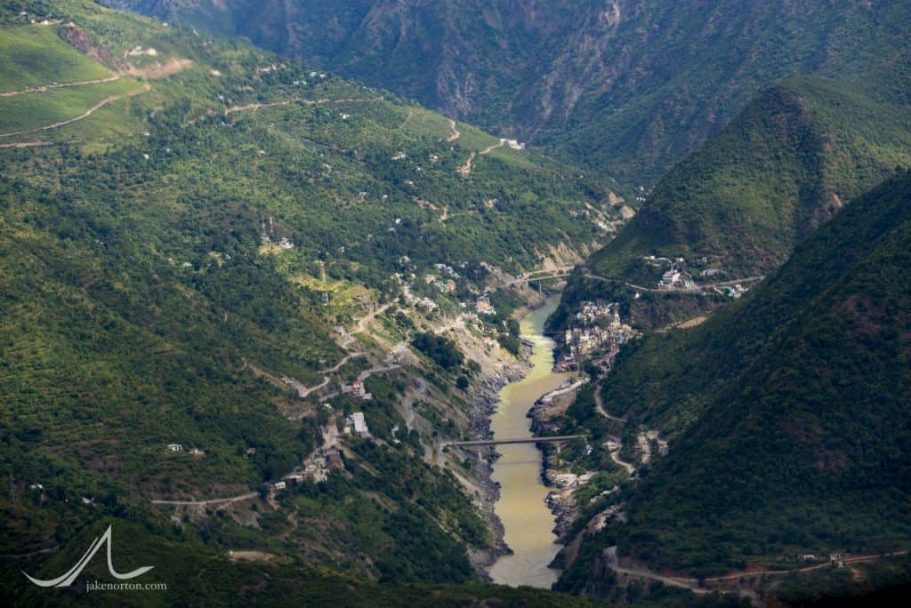 At the sacred confluence of the Bhagirathi and Alaknanda at Devprayag, the Ganges River is born.