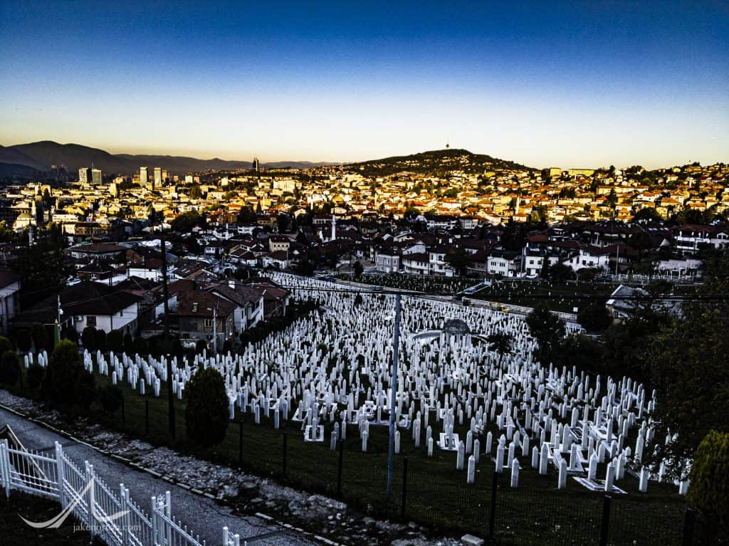 Graveyard for the dead of the siege of Sarajevo, Bosnia and Herzogovina.