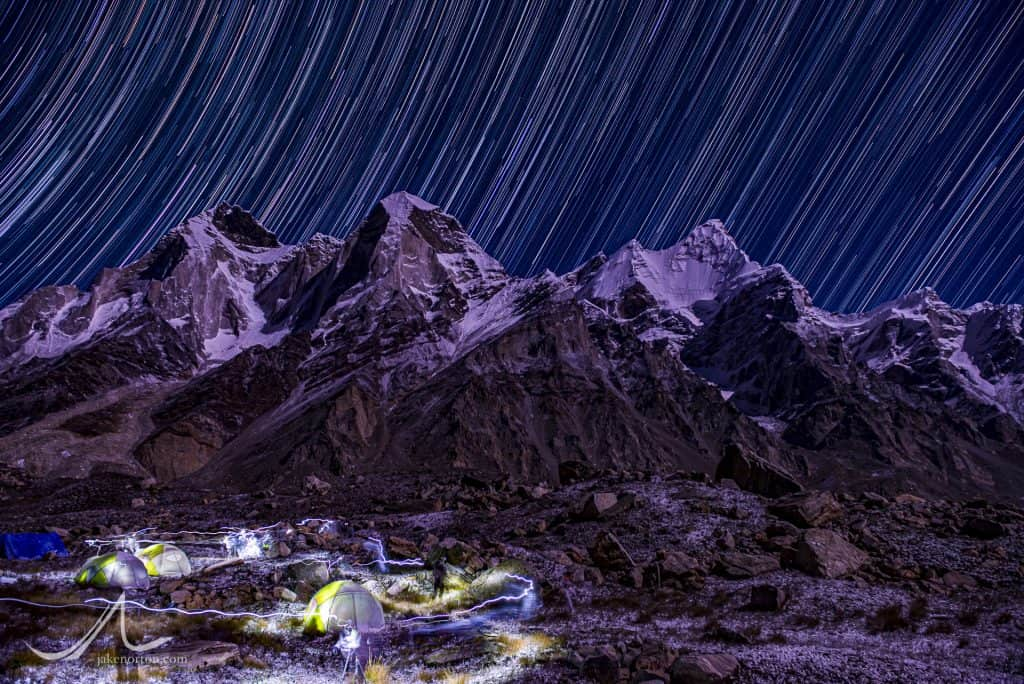 Bhagirathi Peaks from Sundarvan Basecamp, Gangotri Glacier, Garhwal Himalaya, India