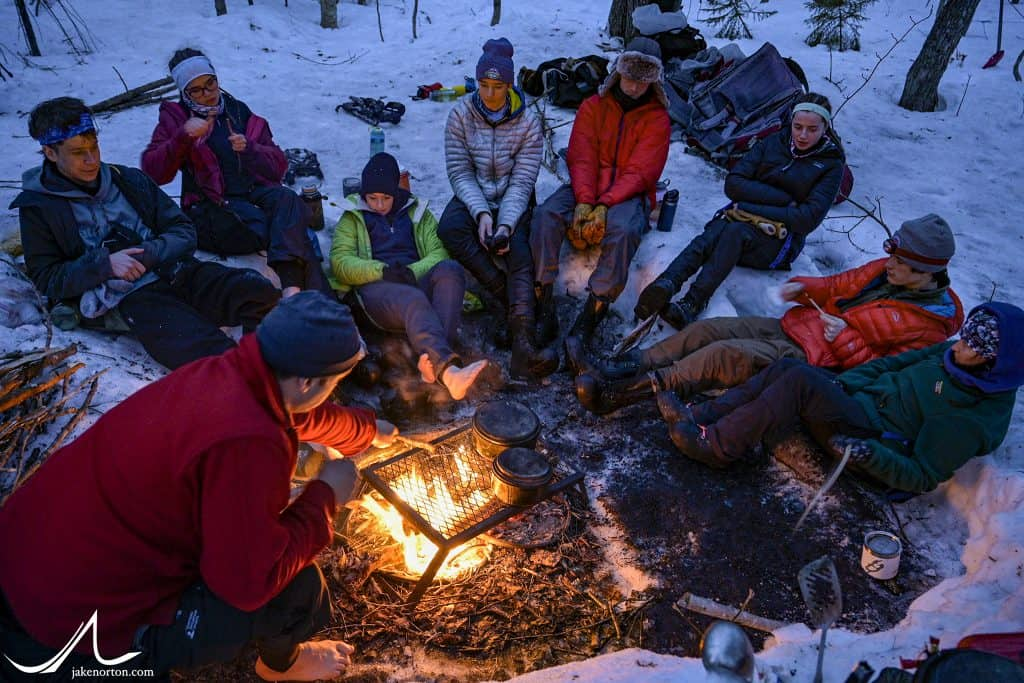 Group time at the campfire, Outback 2020.