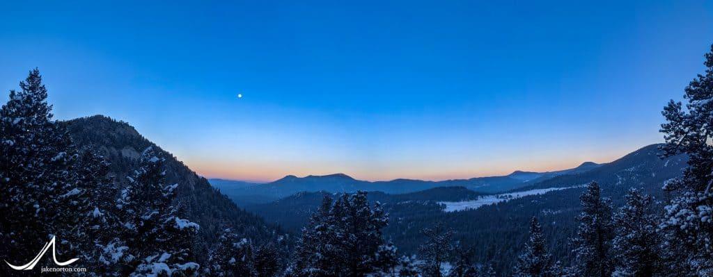 Sunset over Elephant Butte.